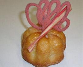 Suikerbroodbloem met rabarber