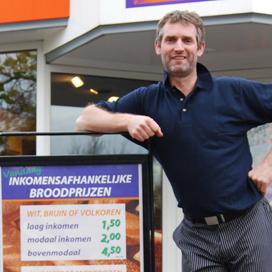 Inkomensafhankelijke broodprijzen bij Van de Kletersteeg
