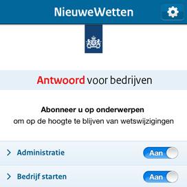 NieuweWetten-app voor ondernemers