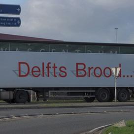 Croissantlijn Delfts Brood topper op veiling