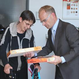 Staatssecretaris Klijnsma bij Van de Leur