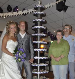 Bakker De Vent maakt twee meter hoge bruidstaart