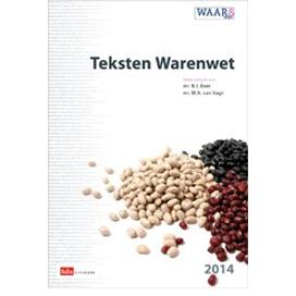Boek 'Teksten Warenwet 2014 – 2015′ in het schap