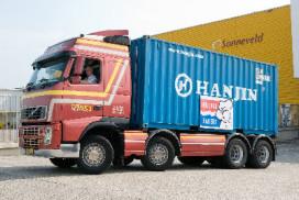 Olympische container met bakkerijgrondstoffen ingeklaard