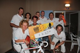Echte Bakkers Twente fietsen ruim 16000 euro bij elkaar