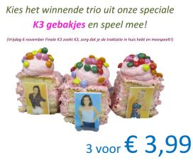 Bakkerij Post ziet verkoopkans in K3-verkiezing