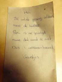 Boodschappenbriefje voor de bakker gaat viral