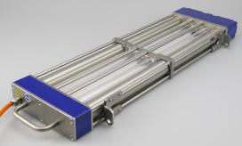 Bioclimatic test kosteloos geschiktheid transportbanden voor UVC-desinfectie