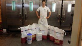150 kilo grondstoffen voor Tom Rijnbeek