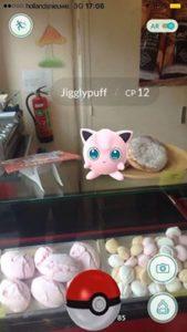 De Pokémon die zich in de winkel van Bakkerij Schuurmans bevindt