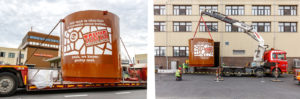 De nieuwe cacaobotertank. Foto: Tony's Chocolonely