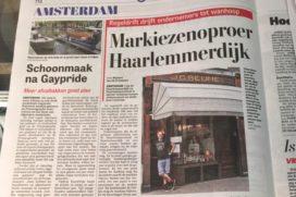 Trammelant Haarlemmerbuurt om zonweringen