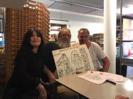 Schiffmacher ontwerpt speculaaspoppen voor Hartog's Volkoren
