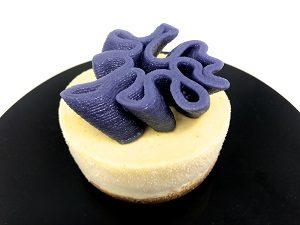 Marsepein decoratie gemaakt met 3D Food Printer.