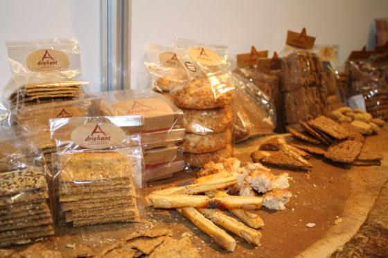Driekant heeft ook een range voorverpakte brood- en banketproducten in het assortiment.