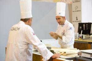 Peter Bienefelt in startblokken voor Bakery Masters